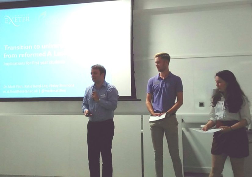 mat and students presenting